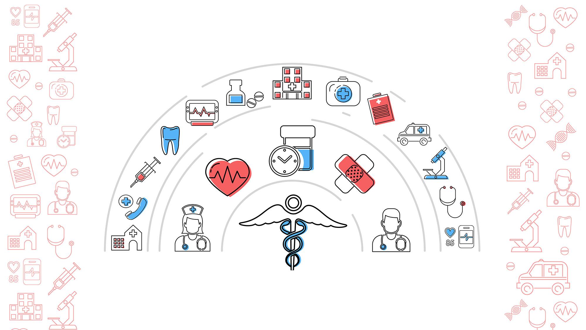 icones diverses médical